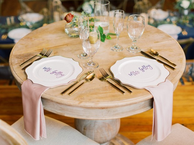 sweetheart table setting