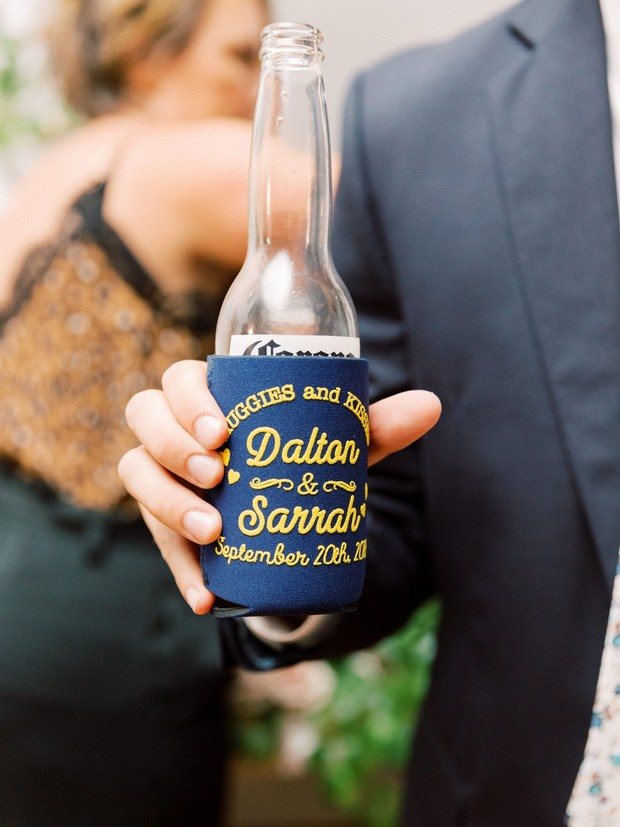 custom beer coozies for a wedding