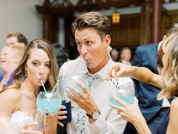 fishbowl wedding drink