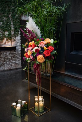 Modern Art Inspired Wedding In Moody Colors