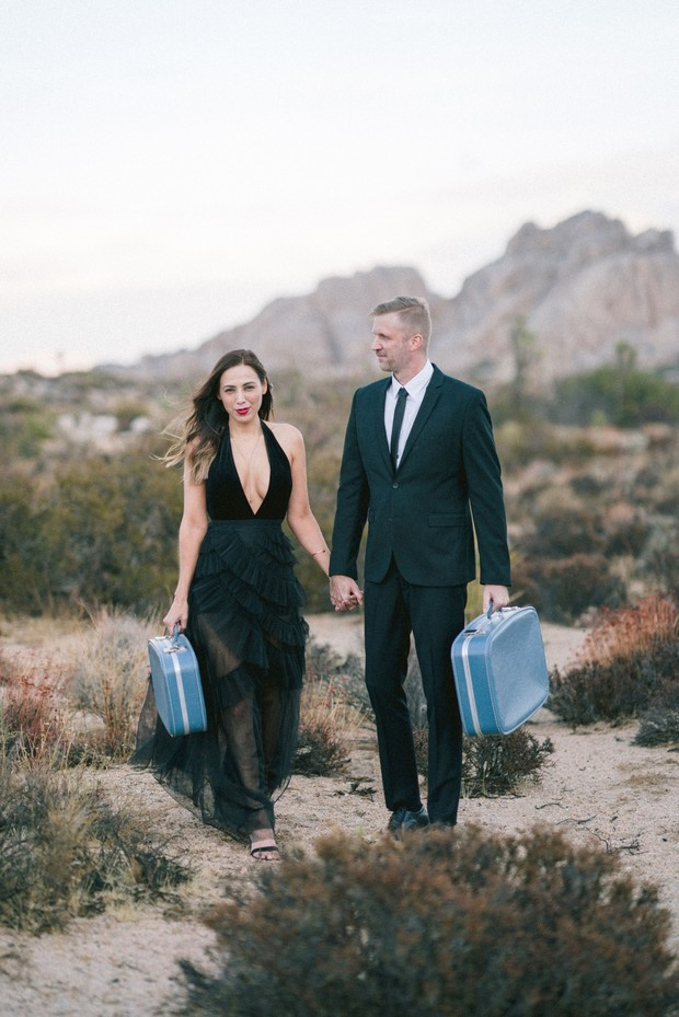 Romantic engagement at Joshua Tree