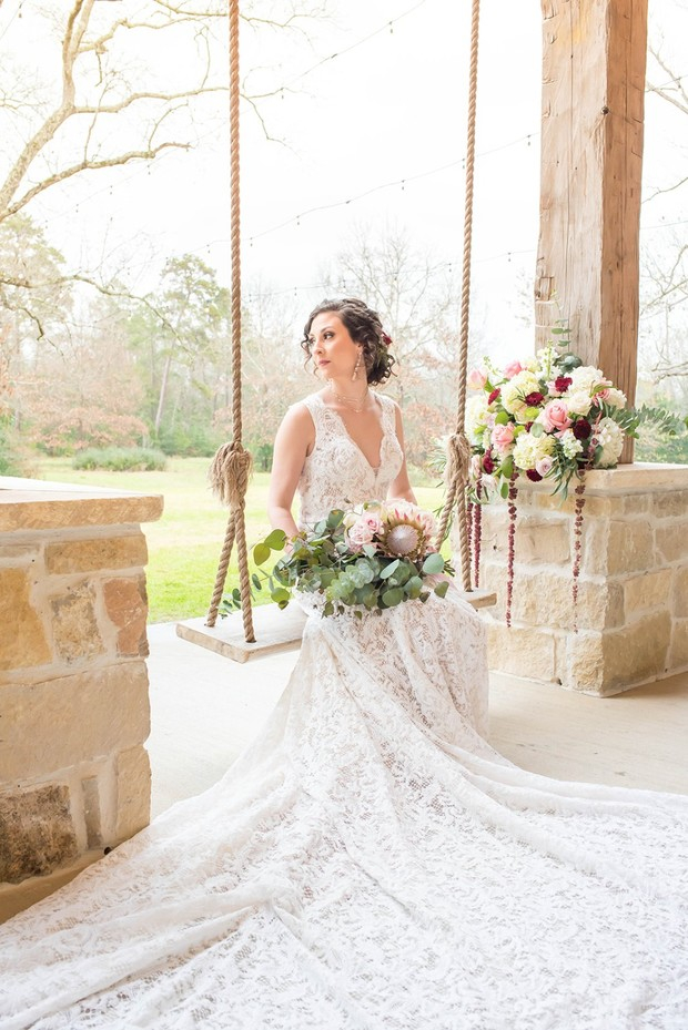 bridal look in lace