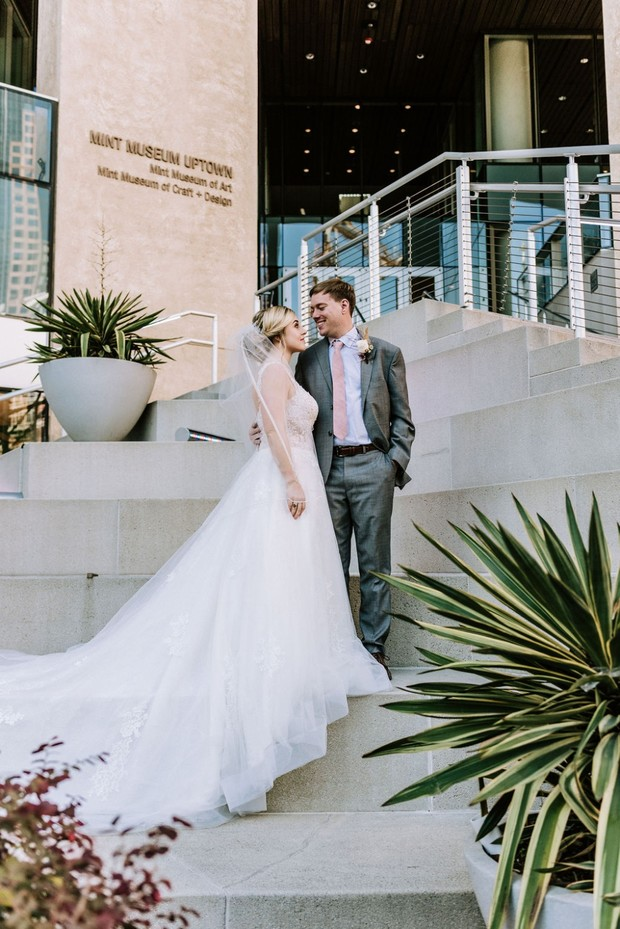 wedding at the Mint Museum