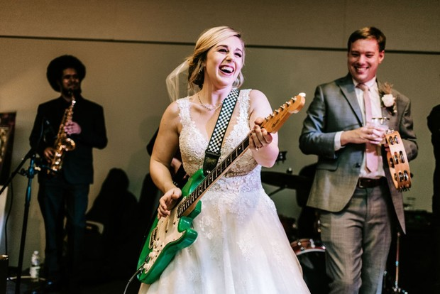 bride rocking out