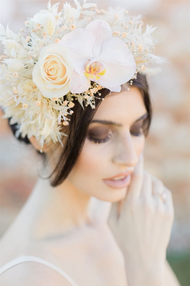 flower head piece for bride