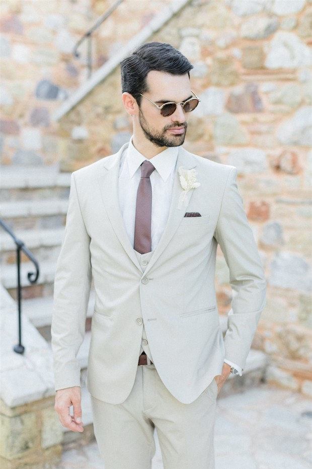 handsome groom style