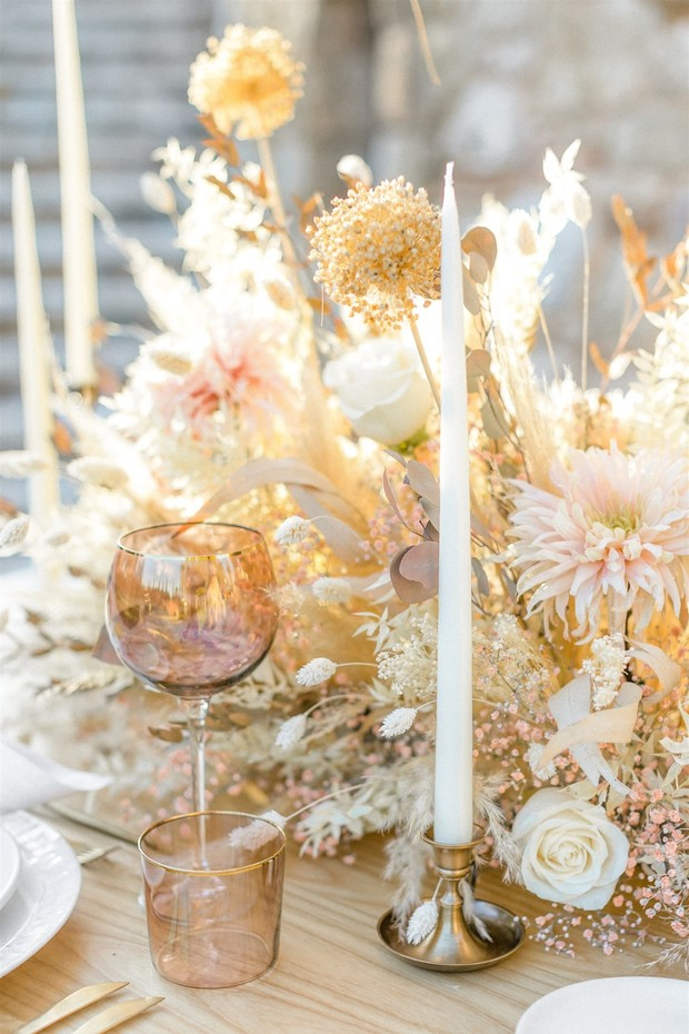 reception table decor