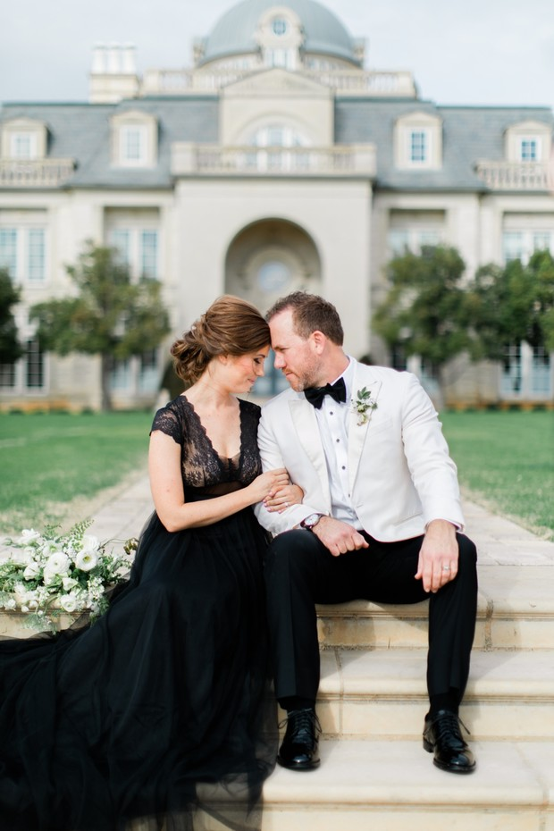 black and white wedding couple styles