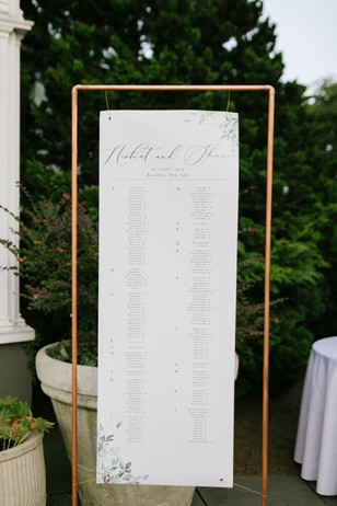 wedding seating assignment sign