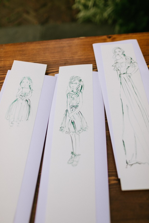 fashion guest drawings favors