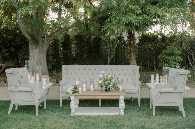 chic grey wedding lounge