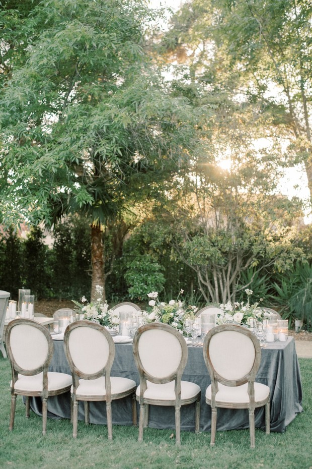 garden theme wedding reception