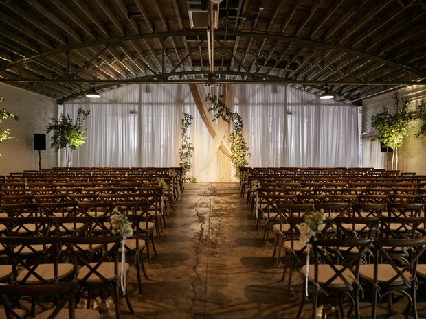 industrial wedding ceremony space