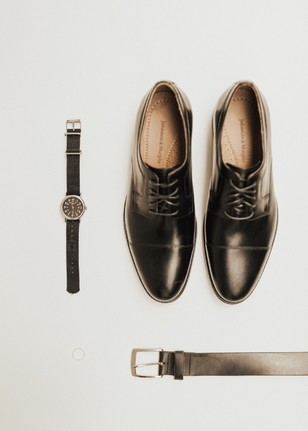 black wedding accessories for the groom
