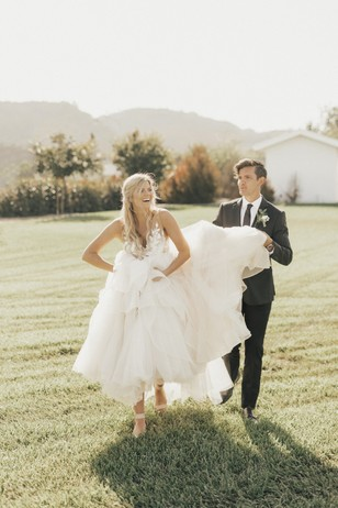 cute and candid wedding couple