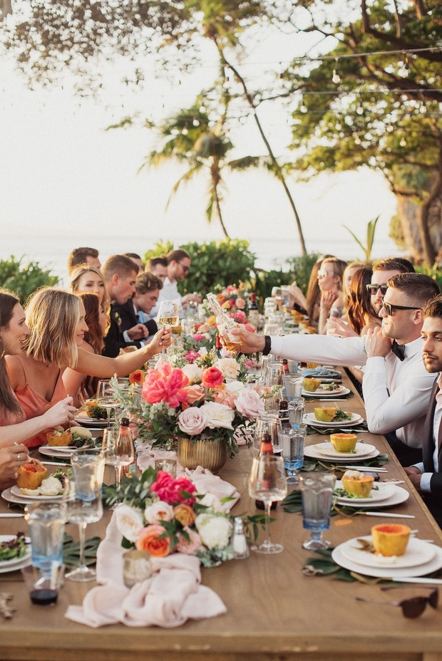 Hawaiian wedding reception