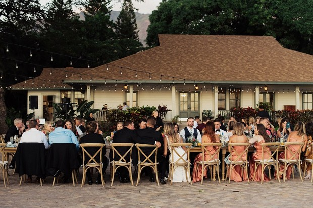 outdoor wedding reception in Hawaii