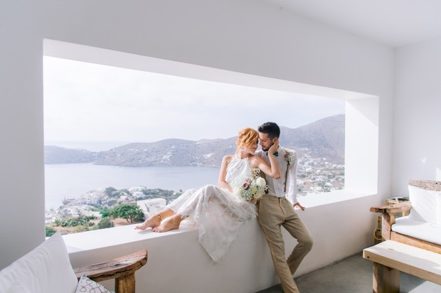 wedding couple in Greece