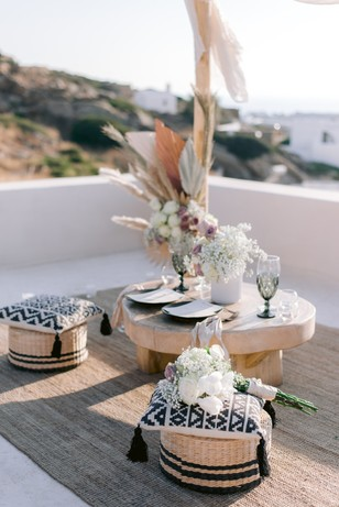 rooftop elopement table