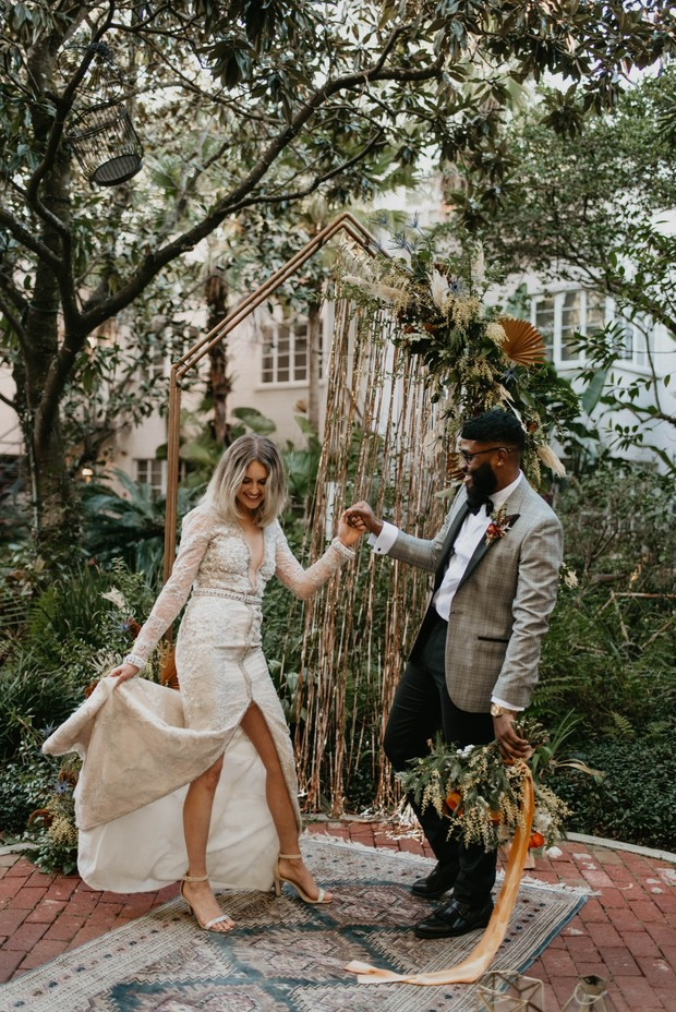 vintage oasis wedding elopement
