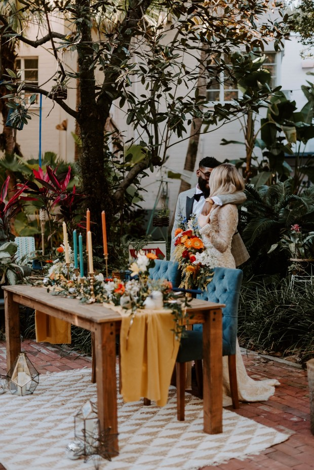 sweetheart table design for an elopement