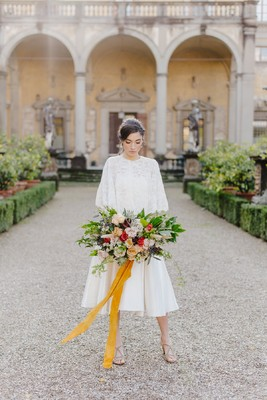 Rustic Hidden Garden Wedding Inspiration In Florence Italy