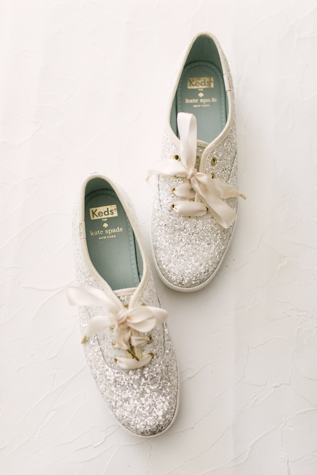 sparkly keds for the bride