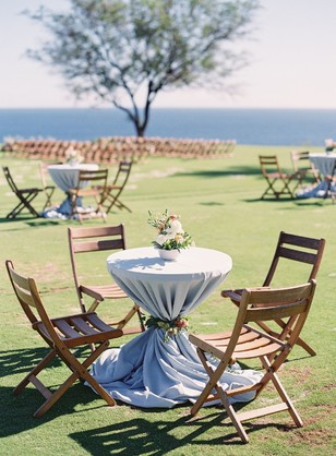 cocktail hour wedding tables