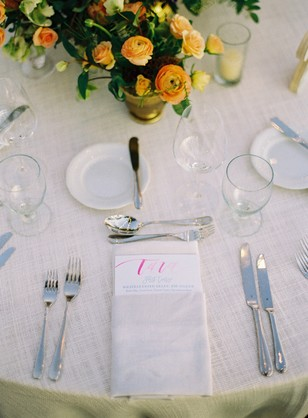 formal and simple place setting