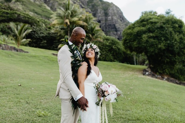 Island elopement on Oahu