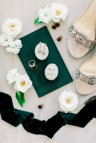 bridal jewelry and heels