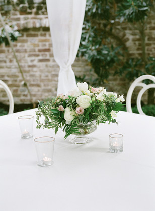 clean and white wedding table