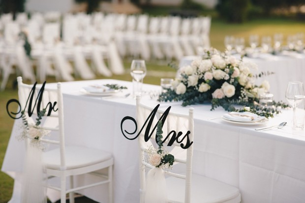 personalized bride and groom chairs