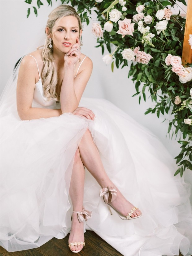 wedding heels with bows