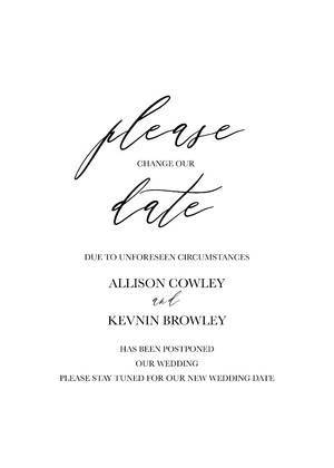 Printable Wedding Cancellation Announcement