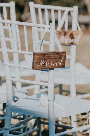 reserved sign at wedding