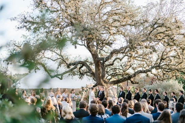 outdoor wedding ceremony at The The Greenhouse at Driftwood