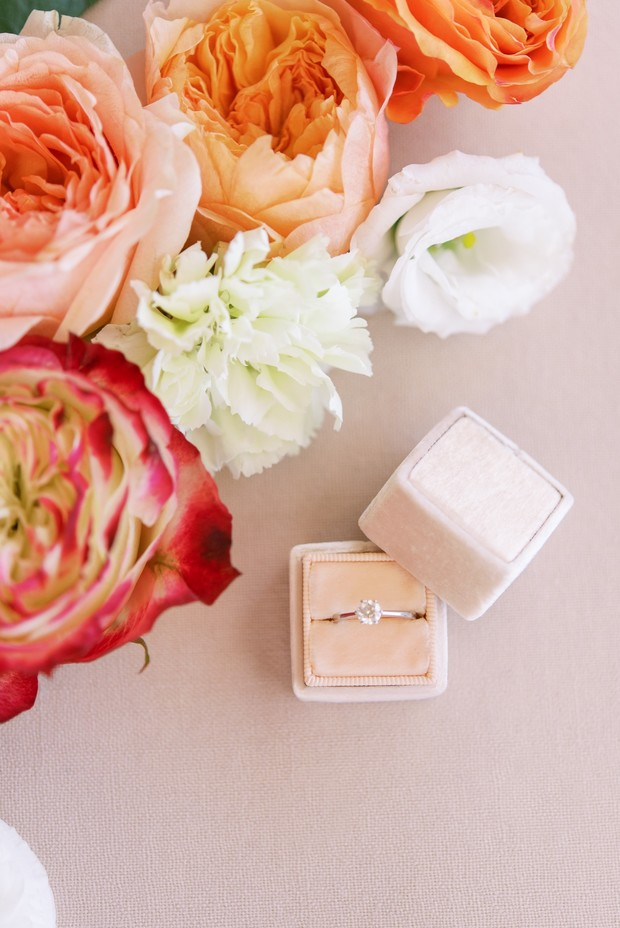 light pink ring box