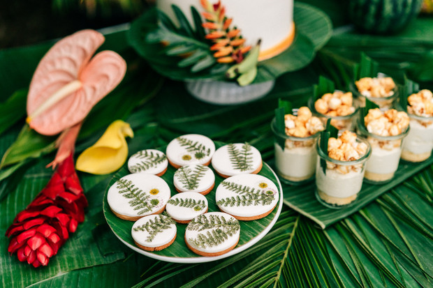 cookies with edible florals