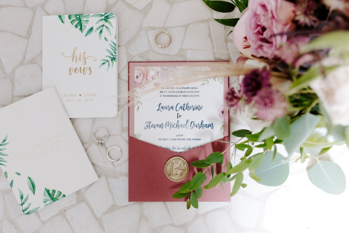 vintage romantic wedding invites