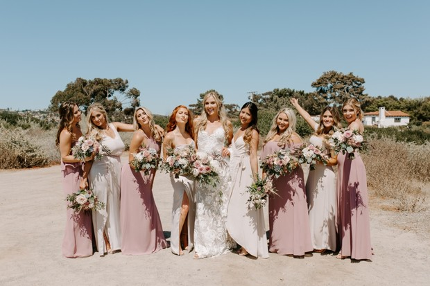 blush rose bridesmaid dresses