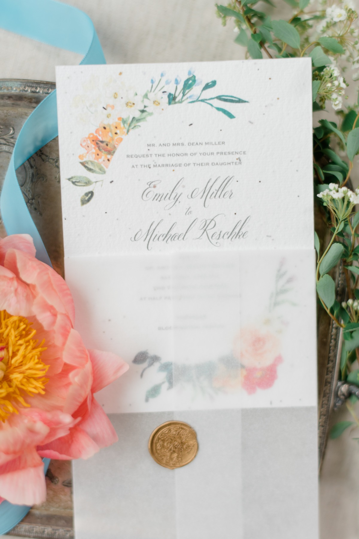 Wedding Stationery on seed paper