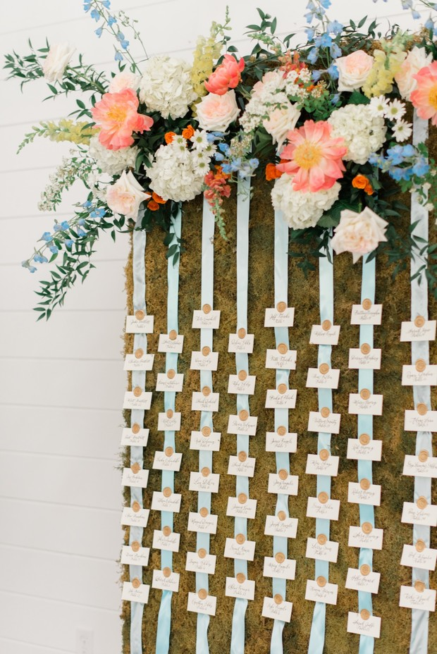 wedding escort display idea