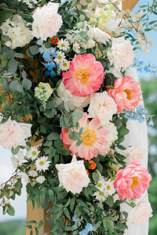 wedding arbor floral decor ideas