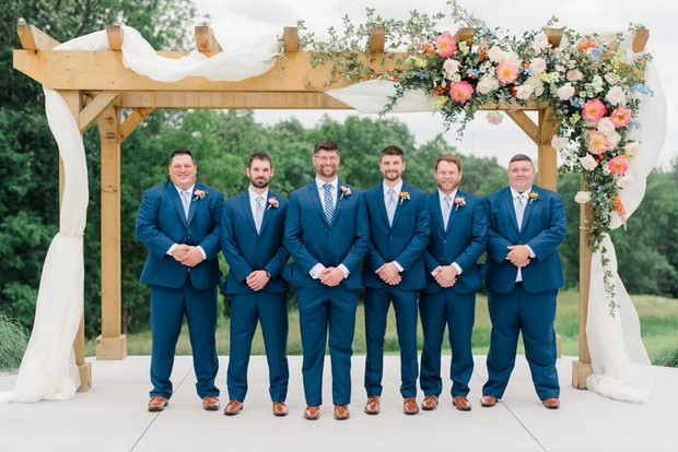 navy blue groomsmen outfit ideas