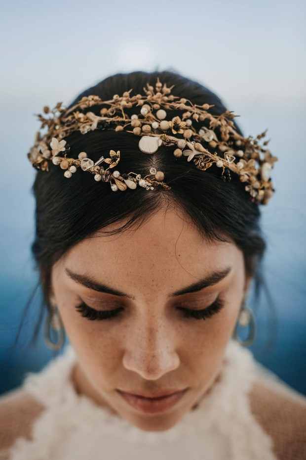 wedding headpiece by Laura Murcia