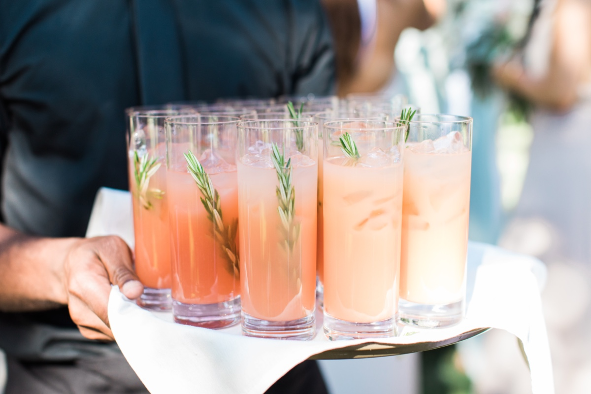 signature cocktail with rosemary