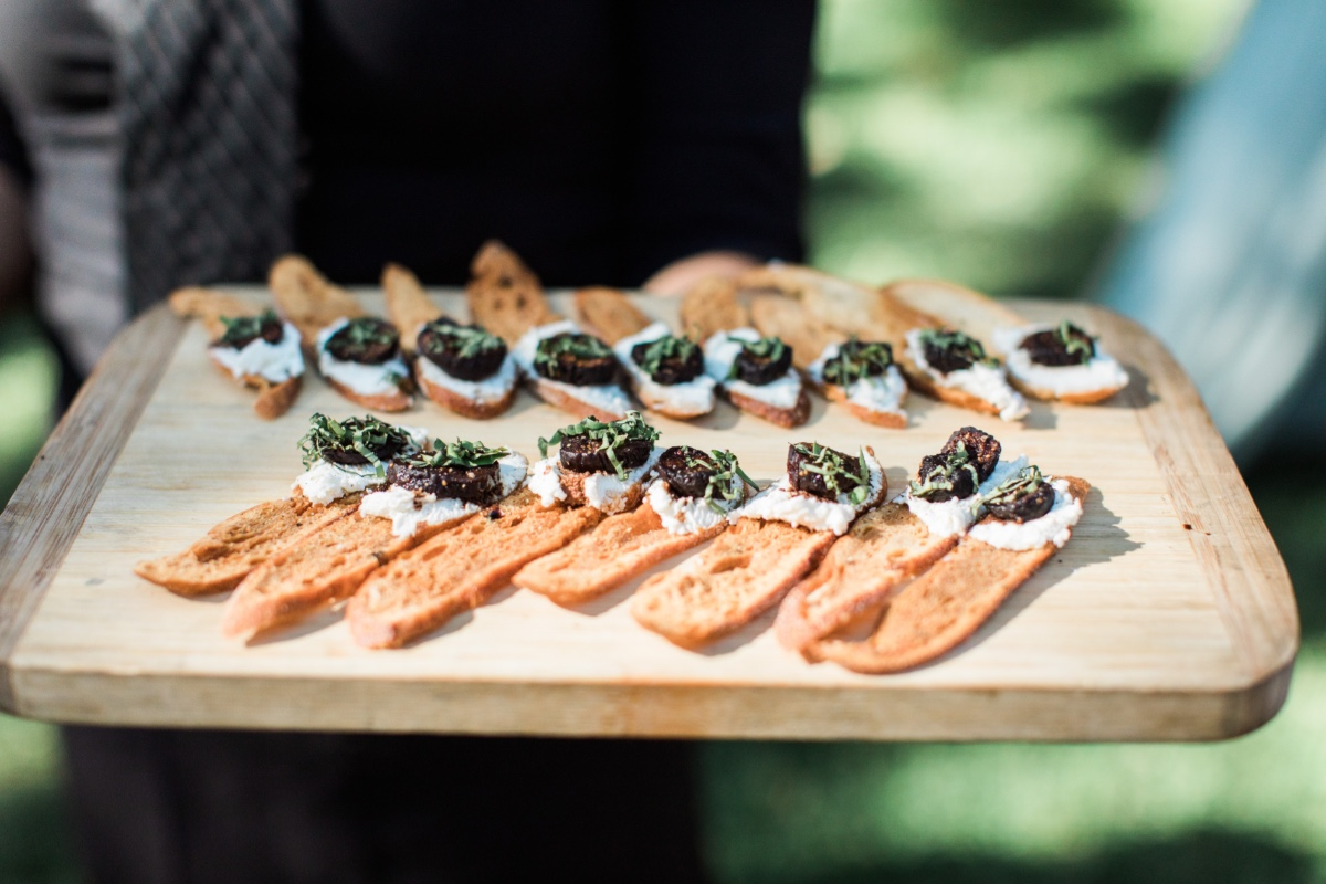 vineyard wedding reception hors d'oeuvres