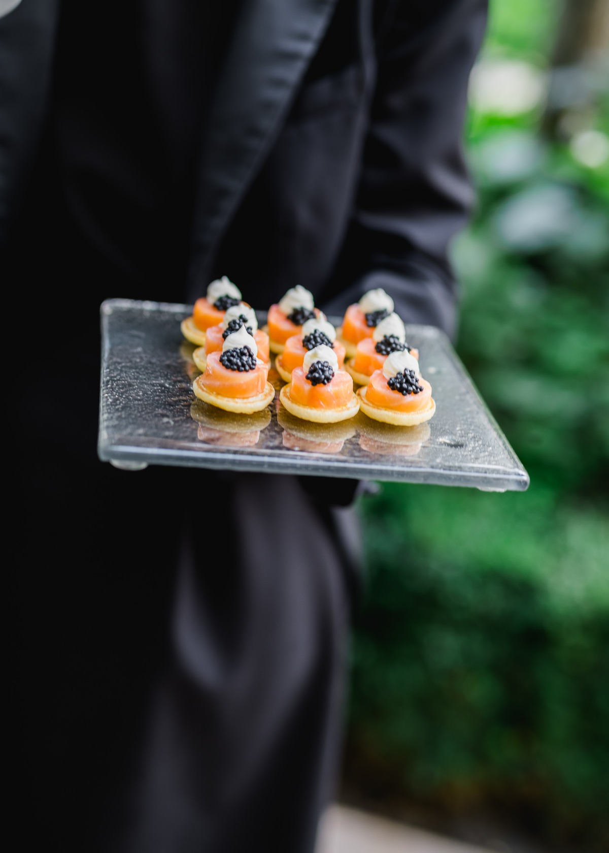 Hors d'oeuvres served at wedding