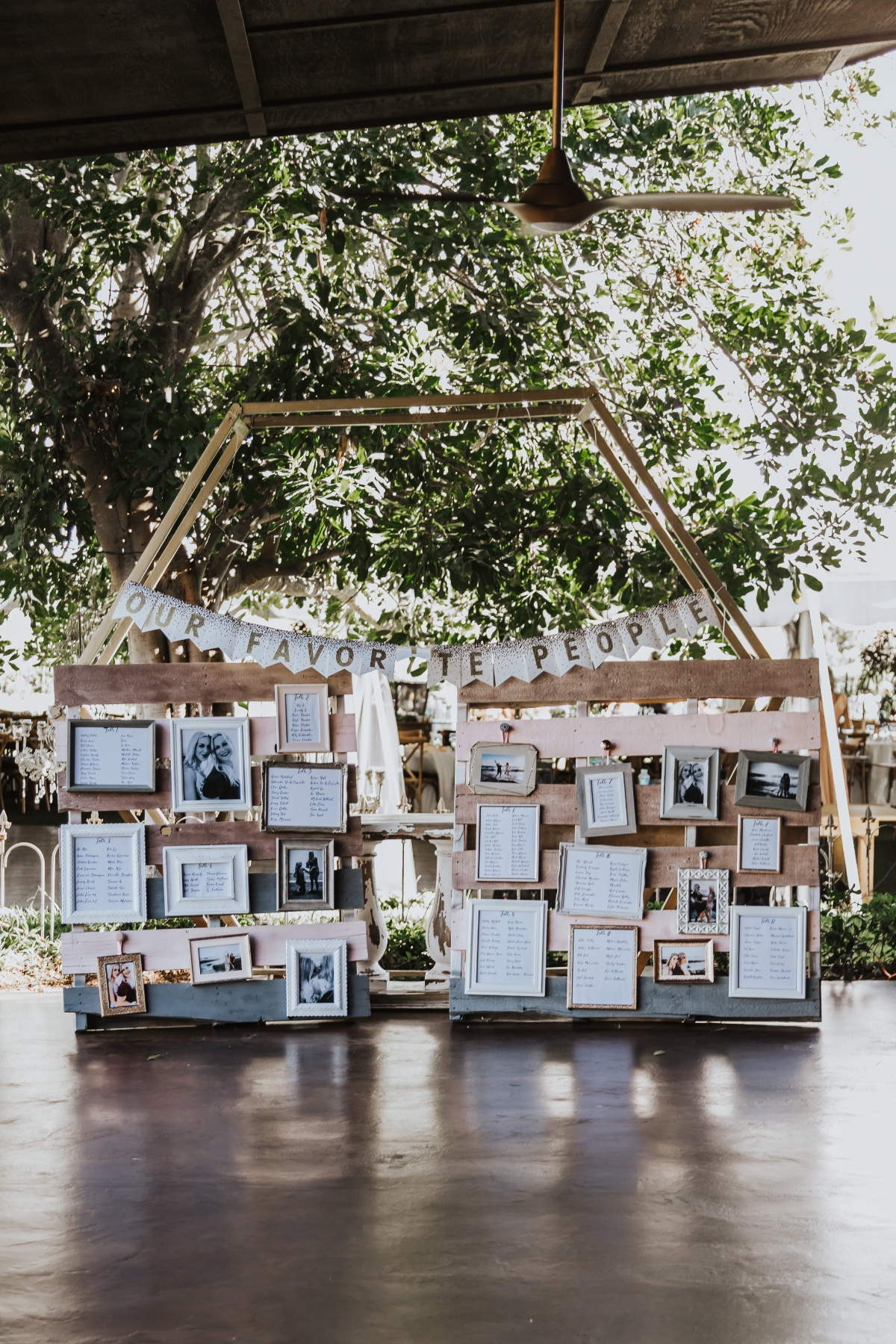 Our favorite people memory wall at wedding